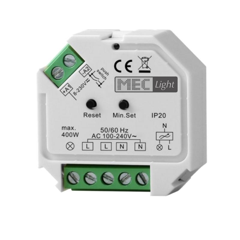 ZigBee Dimmer / Controller 230V / 400W LEDs schalten / dimmen (SR-ZG9101SAC-HP)