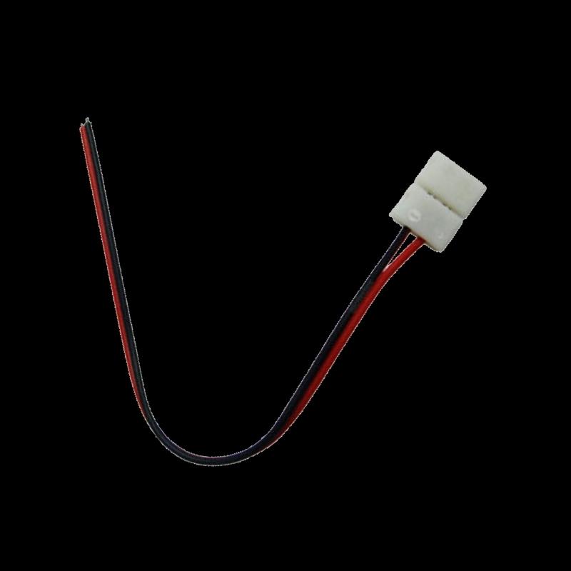 LED Streifen Klapp-Anschluß mit 15cm Leitung 8mm DIY 2-adrig offen ...