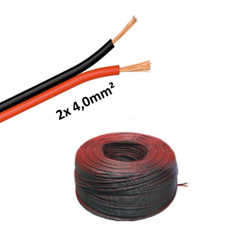 0 95 m 5 100m led kabel zwillingslitze 2x 4 00mm rot. Black Bedroom Furniture Sets. Home Design Ideas
