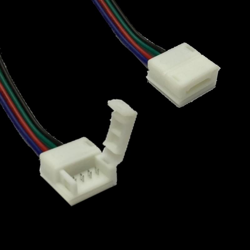 10mm verbinder mit 10cm zuleitung f r 4 pin led streifen. Black Bedroom Furniture Sets. Home Design Ideas