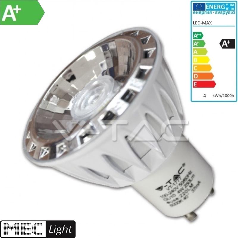 GU10 COB-LED Strahler/Spot 4W -dimmbar- 240Lm=30W - kalt-weiß 6000K