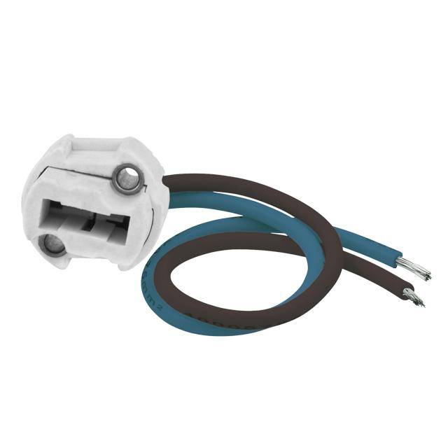 G9-Fassung inkl. Anschlusskabel für G9-Leuchtmittel
