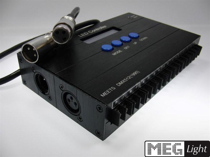 DMX RGB Controller 512 1990 für LED Streifen & Leuchten 12V / 24V DMX512