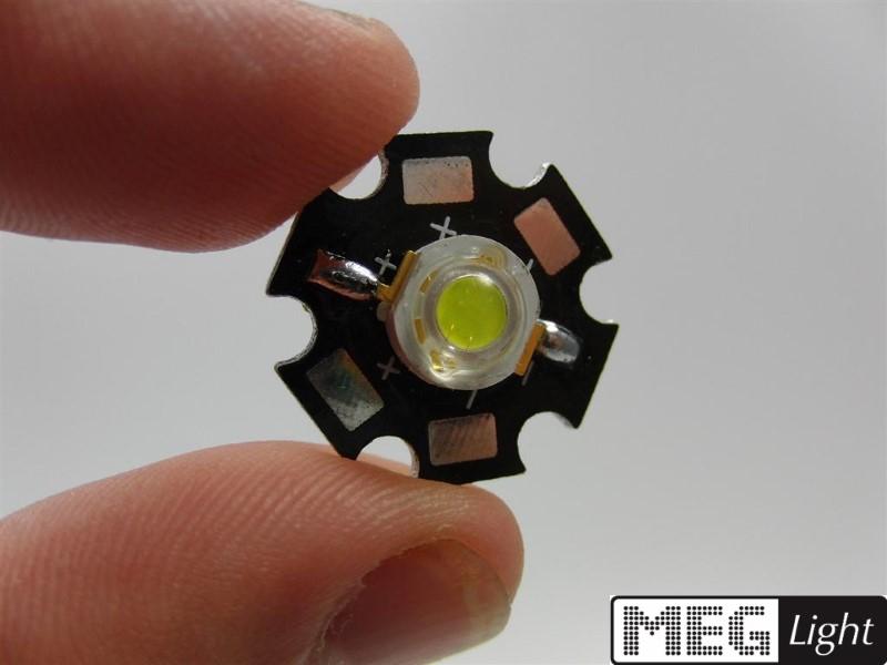 High Power LED weiß 5W 7 - 7,5V DC 220lm 6000-7000k 140°