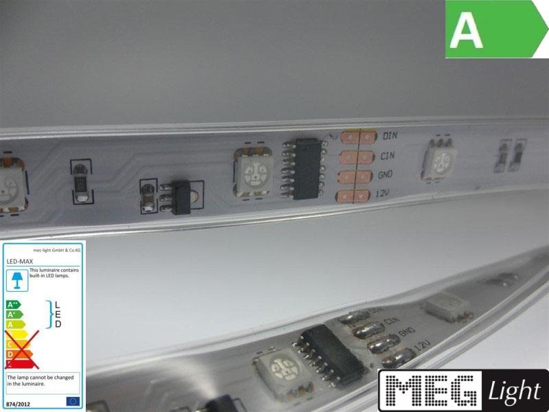 Digitale RGB LED Streifen SMD Strip 5m + Controller + Netzteil