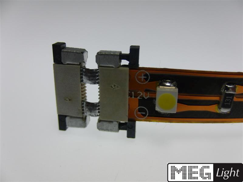 10mm 2-Pin Stecksystem / Klicksystem 2-fach SMD/LED Streifen - lötfrei!