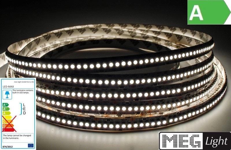 1m LED Streifen/Stripe 240x 3528/m 2200Lm 24V 15W Ra=90 pur weiß (4500K) IP20