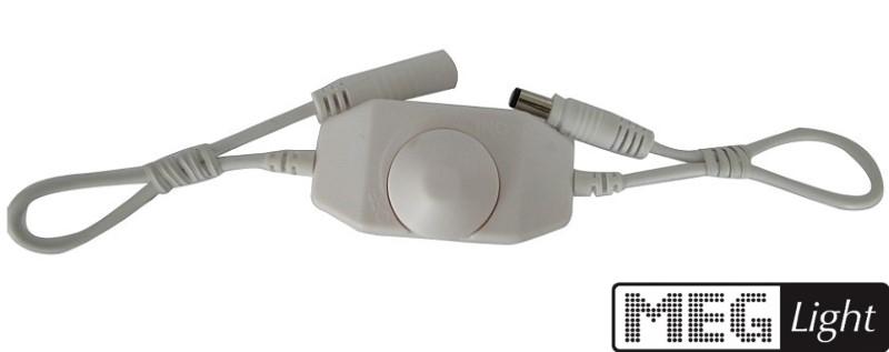 LED Dimmer - SMD Dimmer mit Drehknopf in 12V zum zwischenschalten in weiß
