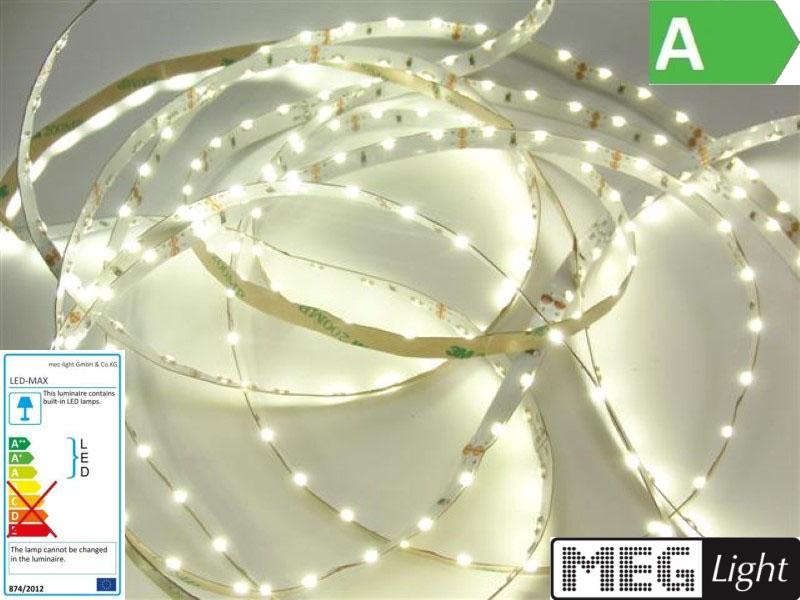 1m Side view LED/SMD Streifen 60x SMDs/m warm weiß (3000K) IP20