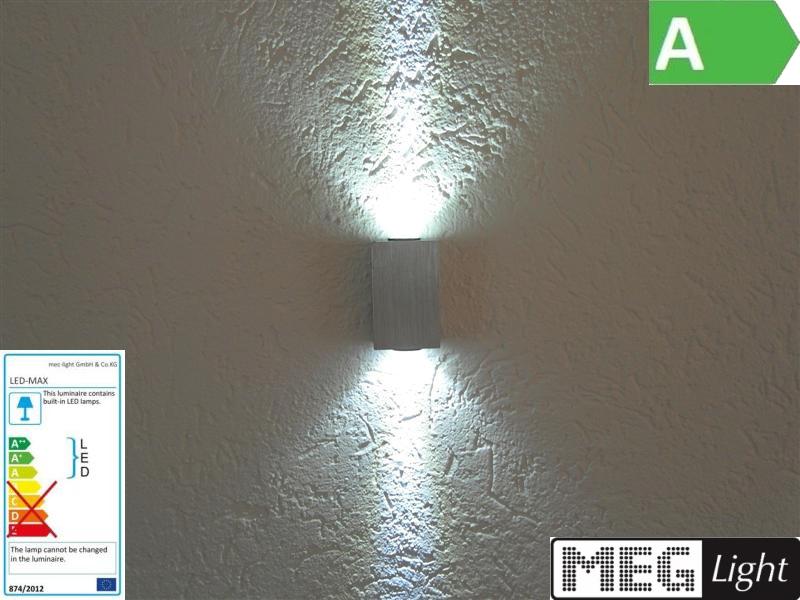 2W LED Wandleuchte 2x1W LEDs - Wandlampe ca. 180 Lumen