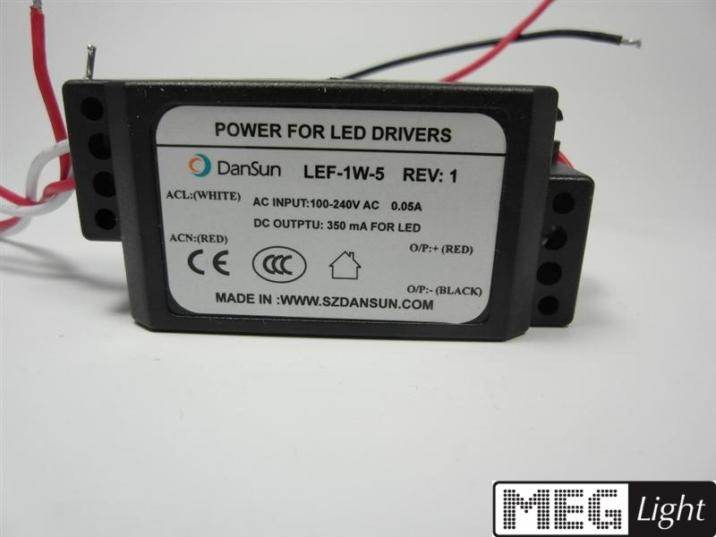 5W LED Netzteil - LED Trafo 350mA Konstantstrom für 1W LEDs