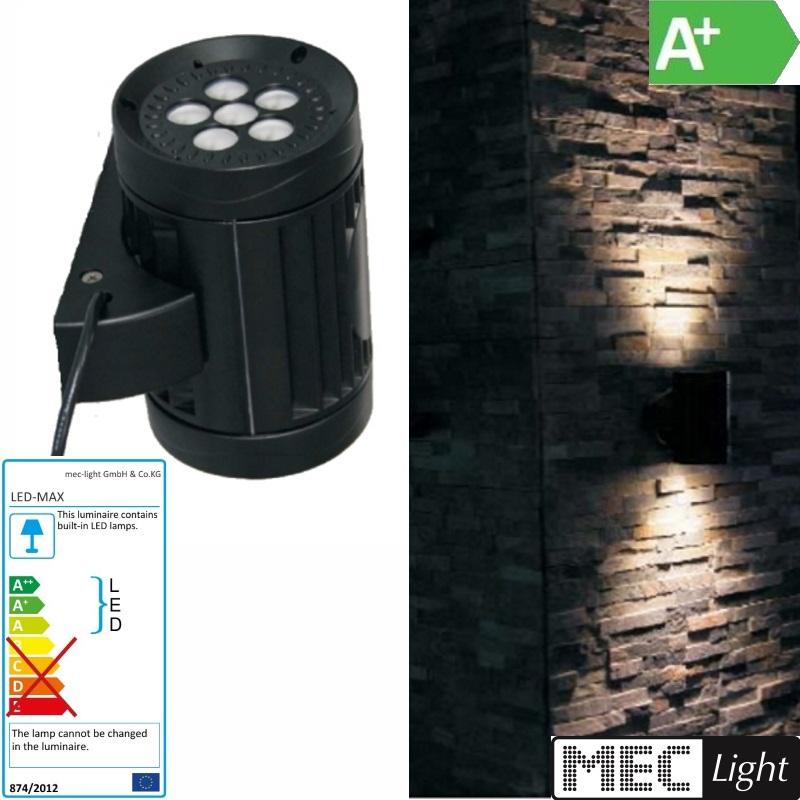 LED Wandlampe / Wandleuchte 45° - 30W CREE LEDs - 1342Lm - weiß (6800k) IP66