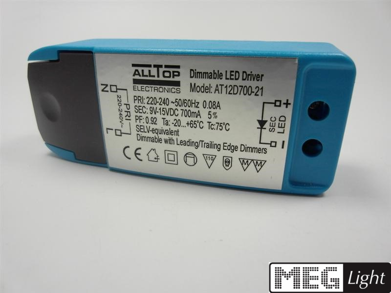 LED Trafo 700mA Konstantstrom Dimmbar - 3W 9-15V Power LEDs MM