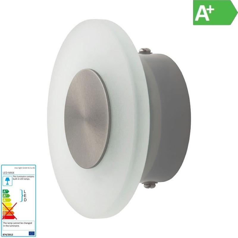 Dekorative Design LED Wandleuchte rund 10 LED 230V IP44