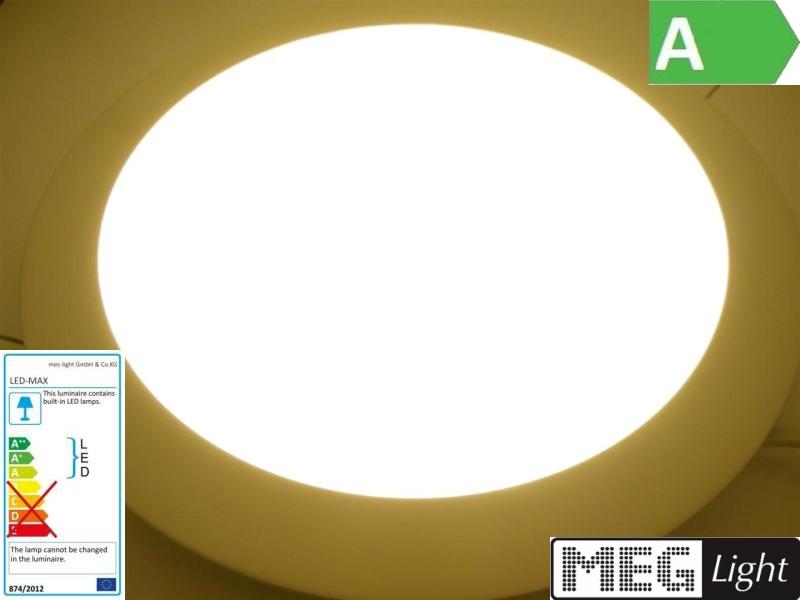 warm-white 150mm DA 860Lm rund in weiß 20mm hoch LED Einbau-Panel 12W
