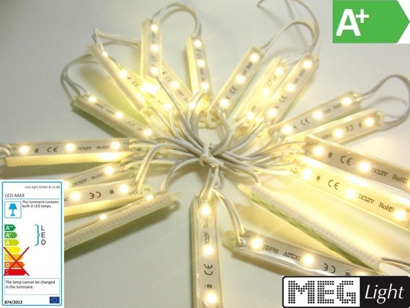 LED Modul Wasserdicht warm-weiß, 3x3528 SMD LEDs 12V DC