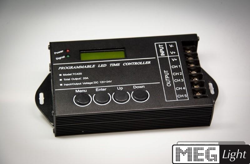 programmierbarer RGB-LED-Controller zur Zeitsteuerung Fadenzeit 24h - 5x4A TC420