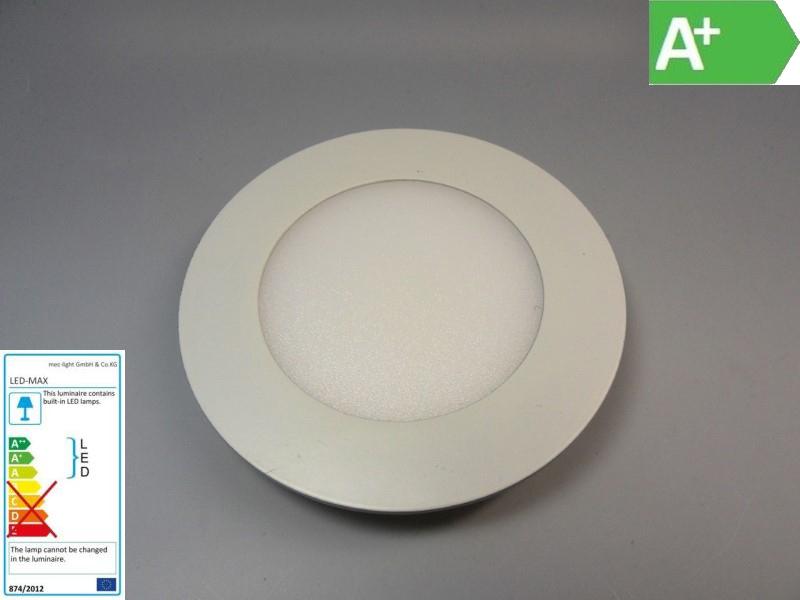 LED Einbauspot / Panel / Downlight rund 230V 4W 320Lm DA=87mm warm-weiß (3000K)