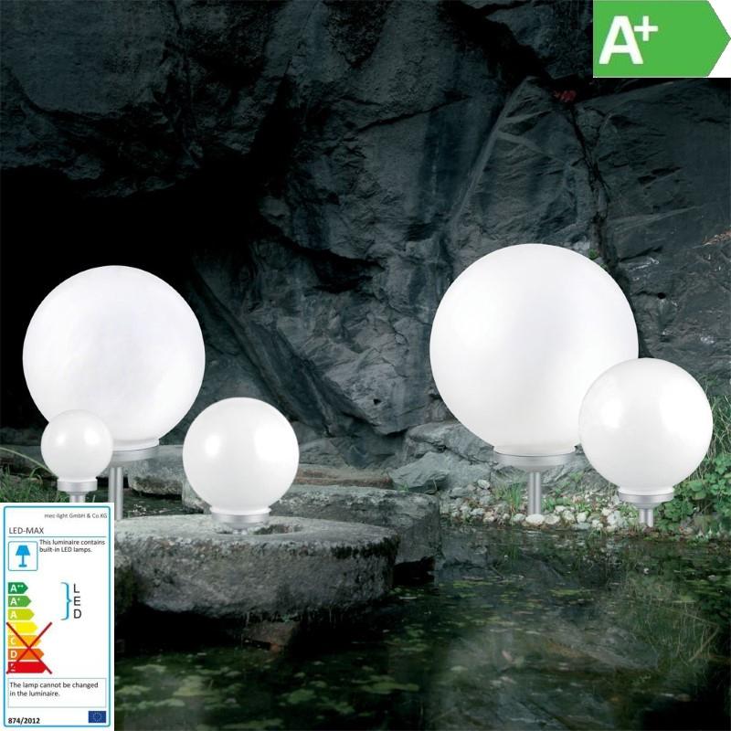 Solar LED-Gartenkugel / Wegbeleuchtung – Ø25cm – Lichtfarbe weiß