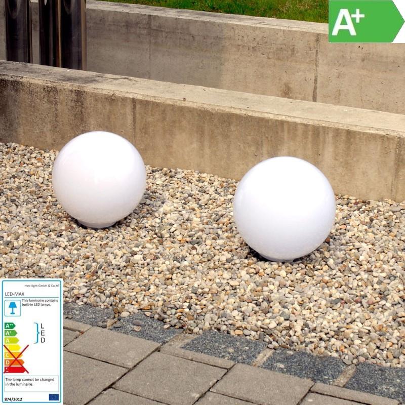 Solar LED-Gartenkugel / Wegbeleuchtung - Ø30cm – Lichtfarbe weiß