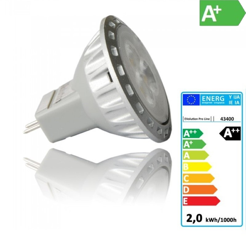 MR11/GU4 LED-Strahler 2W - 200Lm - 30° Abstrahlwinkel - warm-weiß EEK:A