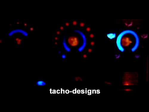 led heizungsblende nissan micra k11 lüftung beleuchtung (blau, rot